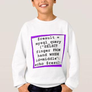 T-shirts piada do mySql - programador de computador