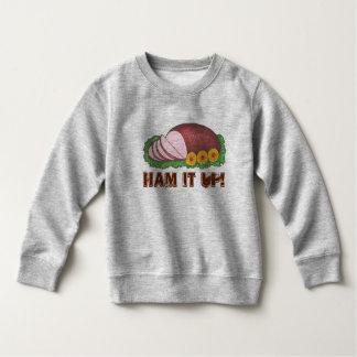 T-shirts PRESUNTO ELE ACIMA da camisola feia do Natal do
