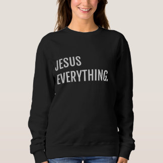 T-shirts Preto JESUS TUDO camisola