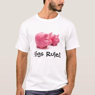 T-shirts Regra cor-de-rosa dos porcos!