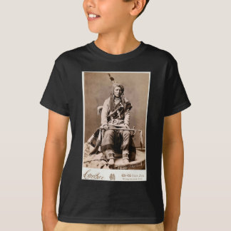 T-shirts Retrato 1880 do nativo americano do vintage do