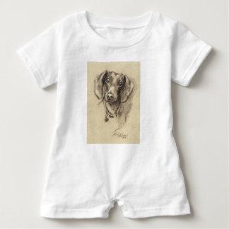 T-shirts Retrato do Dachshund