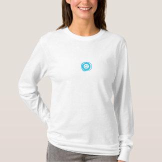 T-shirts Revel das mulheres longas da luva do smiley o