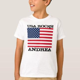 T-shirts Rochas da bandeira dos EUA