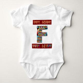 T-shirts Roteiro de HappyBirthday - alfabeto ALFA