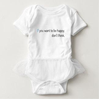 T-shirts se você quer estar feliz, não pense
