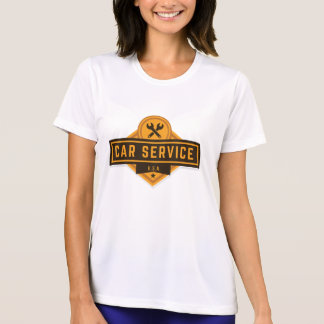 T-shirts Serviço do carro. Vintage referente à cultura