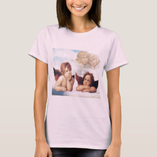 T-shirts Sistine Madonna 2 anjos por Raphael