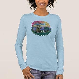T-shirts Spaniel de rei Charles descuidado (Blenheim)