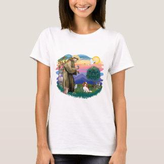 T-shirts Spaniel de rei Charles descuidado (Blenheim #2)