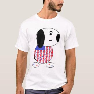 T-shirts T americano dos homens do cão