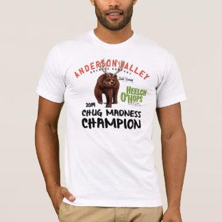 T-shirts T do campeão da loucura do Chug