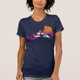 T-shirts T do esqui aquático do slalom