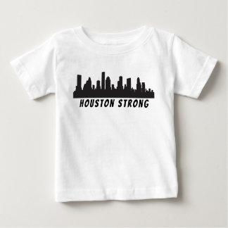T-shirts T forte do bebê da skyline de Houston