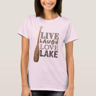 T-shirts T simples da vida do lago