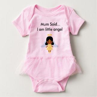 T-shirts Terno do bebê do anjo