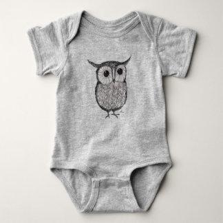 T-shirts Terno do corpo do bebê da coruja