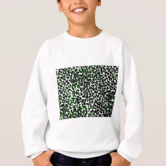 T-shirts Teste padrão verde do leopardo