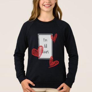 T-shirts Todo o coração Doodled com nota