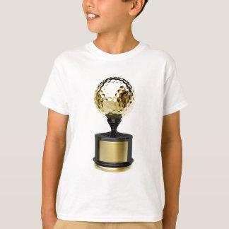 T-shirts Troféu do ouro com bola de golfe