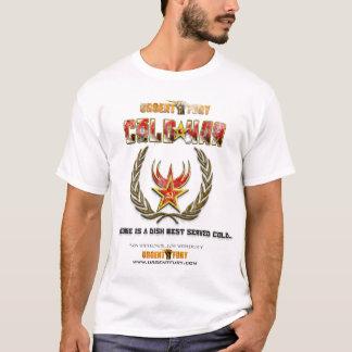 T-shirts TShirt urgente do branco da guerra fria da fúria