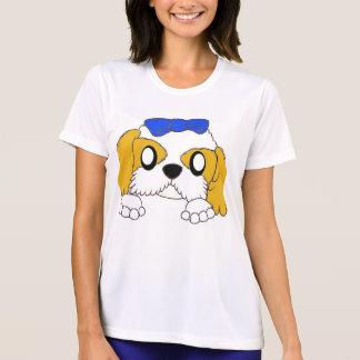 T-shirts tzu de shih que espreita o ouro e o branco
