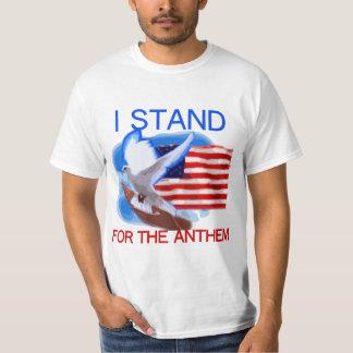 T-shirts U.S. Bandeira e pomba que eu represento o hino