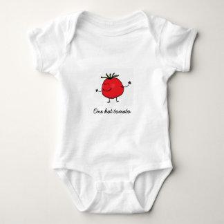 T-shirts Um Bodysuit quente do bebê do tomate