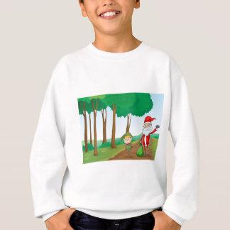 T-shirts um menino e um Papai Noel