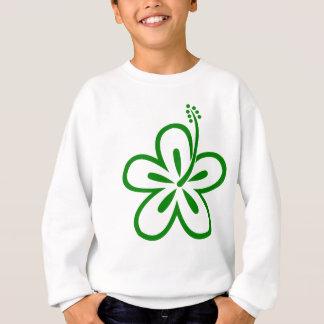 T-shirts vai o design verde da flor