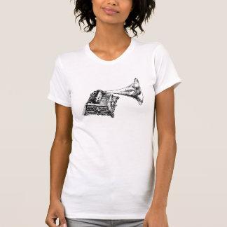 T-shirts Vintage Lineart do gramofone