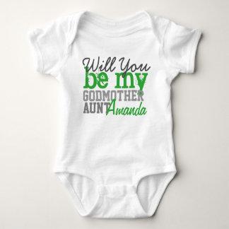 T-shirts Você será minha madrinha. (Com sua tia Nome)