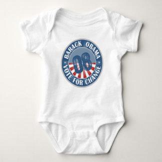 T-shirts Voto de Barack Obama para a mudança