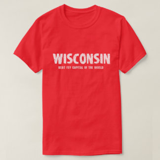 T-shirts Wisconsin - capital da fritada do pirralho do