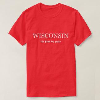 T-shirts Wisconsin - o Tshirt do estado da fritada do