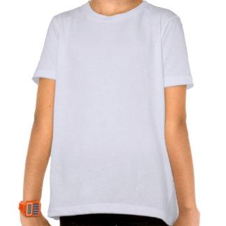 T tropical chave das meninas dos peixes de Florida Camisetas