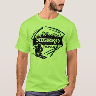 T verde das caras da arte do logotipo do esqui de t-shirts