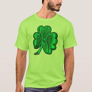 T verde simples do verde do trevo camiseta
