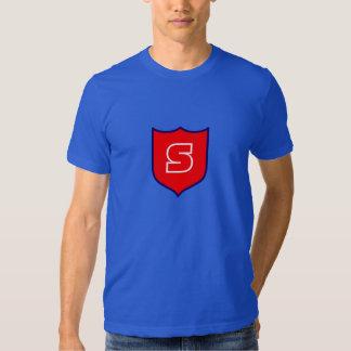 T vermelho do geek do protetor do super-herói camisetas