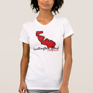 T vermelho do símbolo do urso de Huntington Beach Camisetas