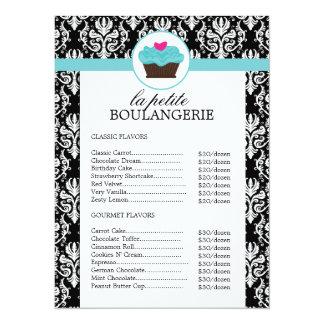 Tabela de preços bonito da padaria do damasco convite 13.97 x 19.05cm