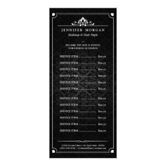 Tabela de preços elegante do salão de beleza do 10.16 x 22.86cm panfleto