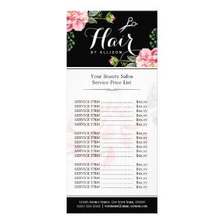 Tabela de preços moderna do salão de beleza do 10.16 x 22.86cm panfleto
