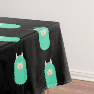 Tablecloth modelado de Emoji do lama Toalha De Mesa