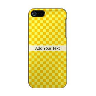 Tabuleiro de damas amarelo da combinação por capa metálica para iPhone SE/5/5s