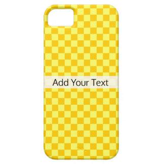 Tabuleiro de damas amarelo da combinação por capa para iPhone 5