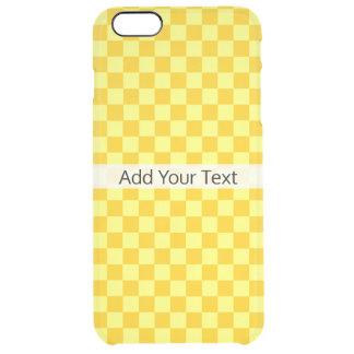 Tabuleiro de damas amarelo da combinação por capa para iPhone 6 plus transparente