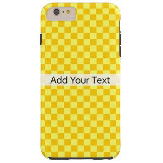 Tabuleiro de damas amarelo da combinação por capas iPhone 6 plus tough