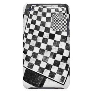 Tabuleiro de damas preto e branco capa iPod Case-Mate