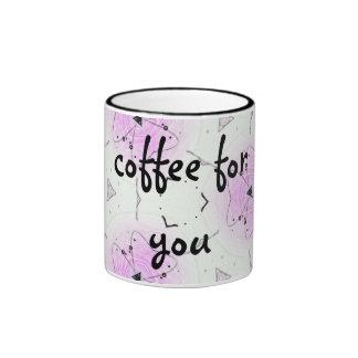 """Taça """"coffee for you """" caneca com contorno"""